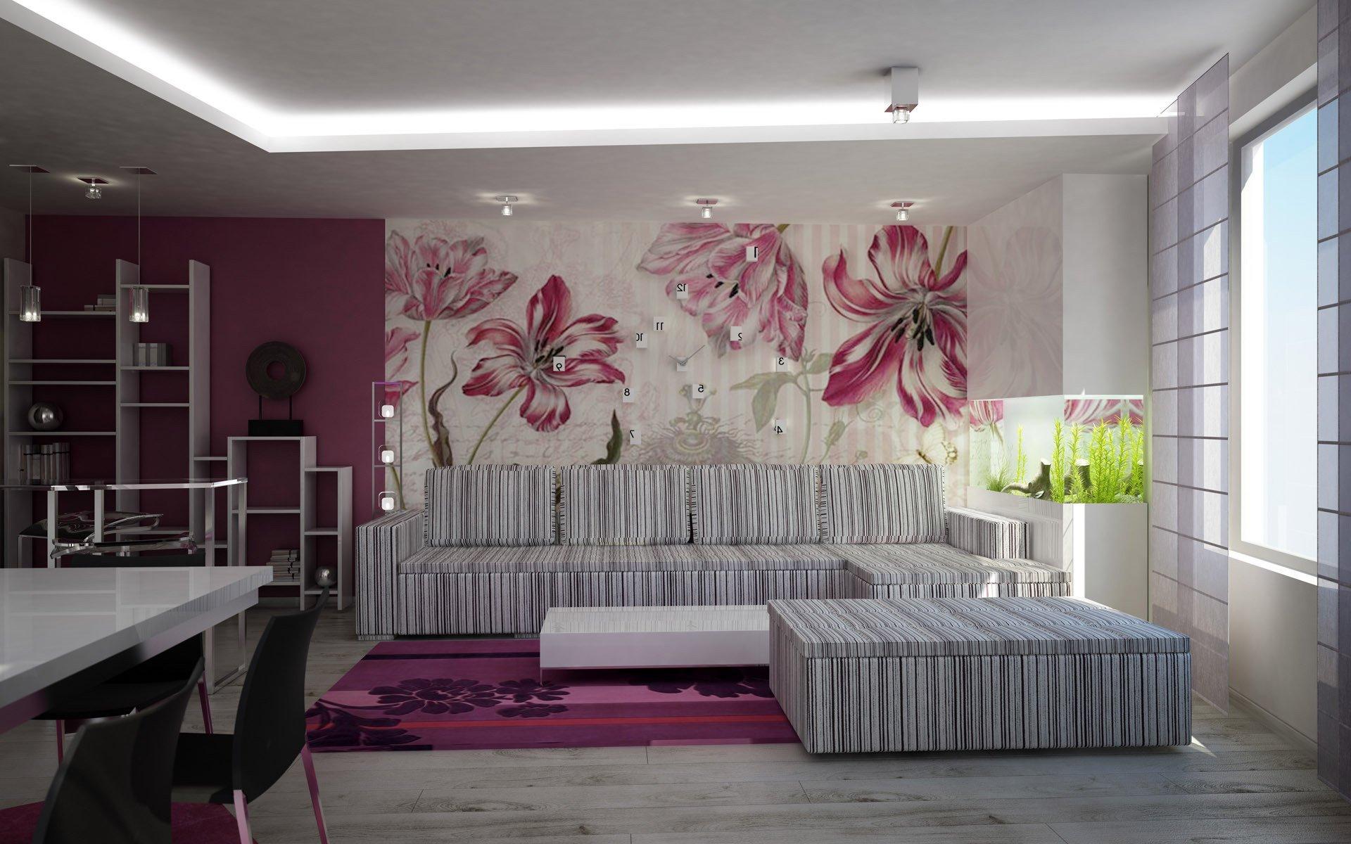 Фото дизайн обоев в комнату
