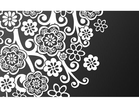 Скачать Картинки чернобелые цветы 1920x1080 px