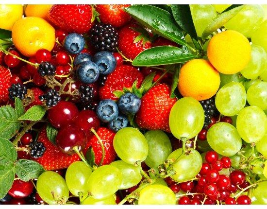 Скачать Обои фрукты и ягоды 1024x768 px