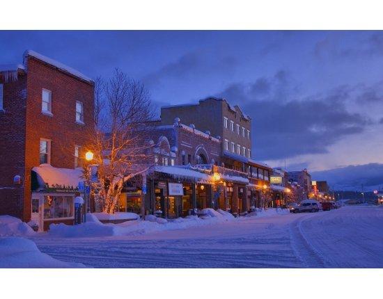 Скачать Город зимой обои 1920x1200 px