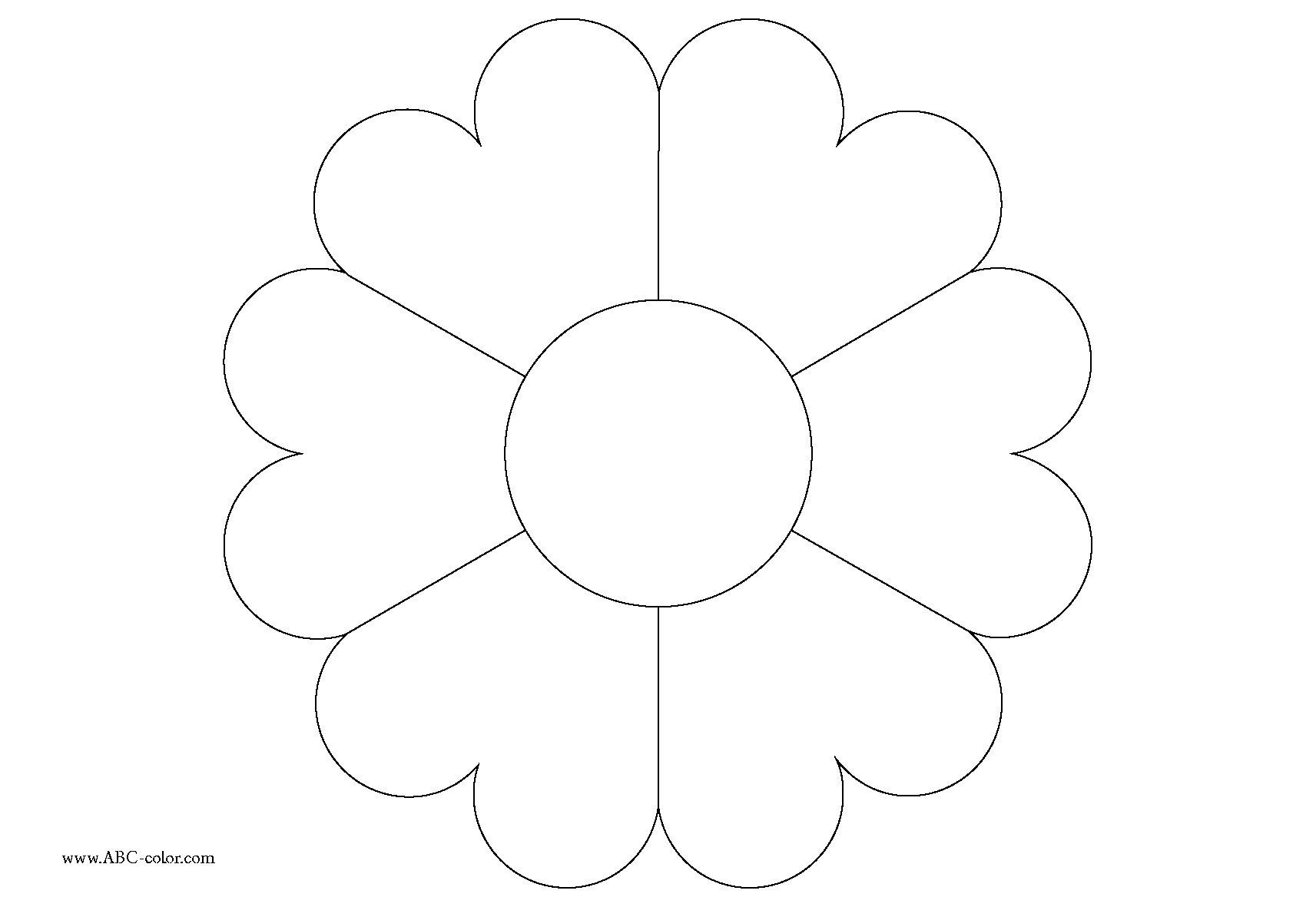Цветы картинки раскраски для детей - 7