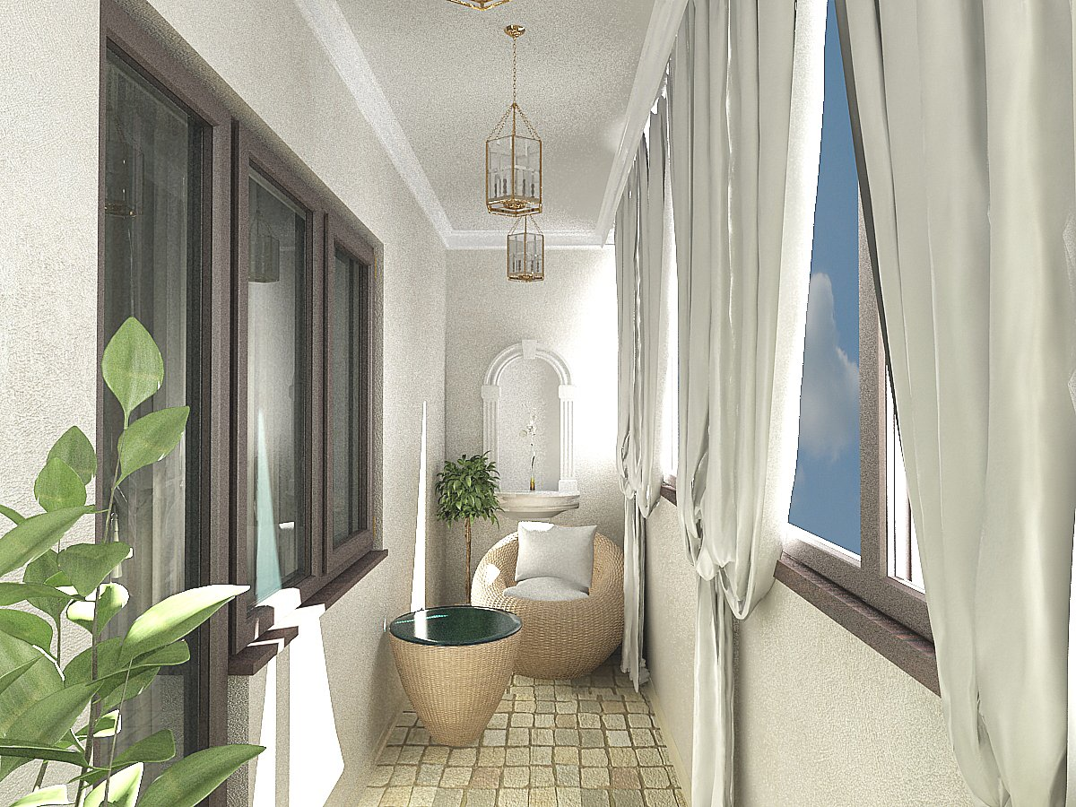 Дизайн балкона 6 кв м.