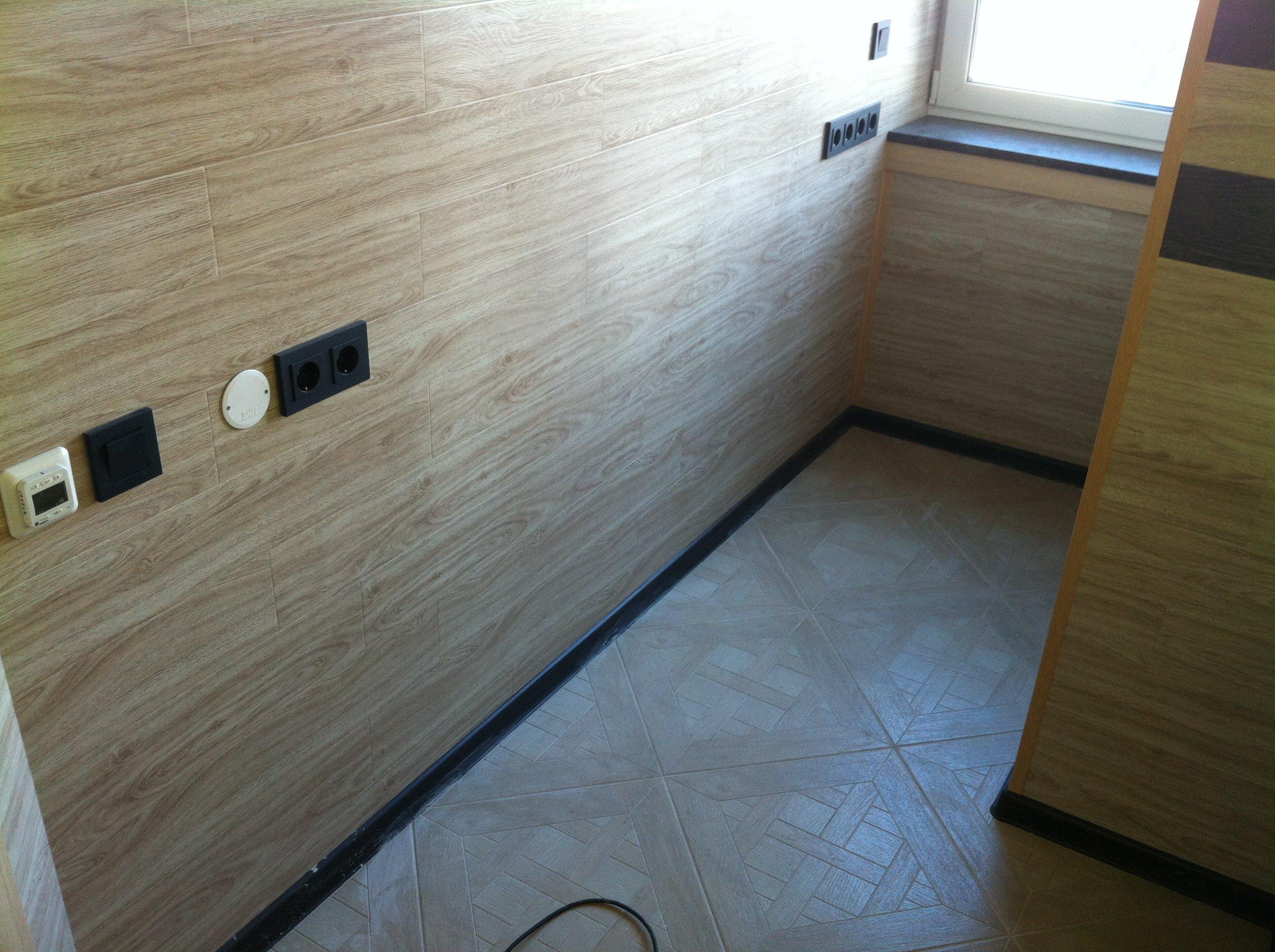 Внутренняя отделка балкона ламинированым мдф.