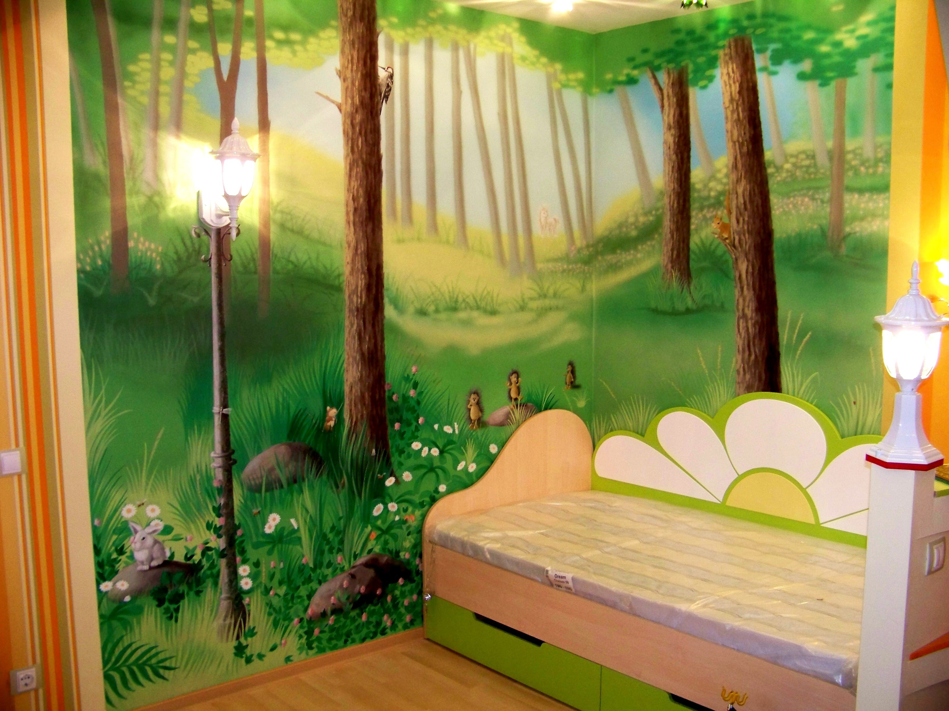 Стены в детской комнате фото