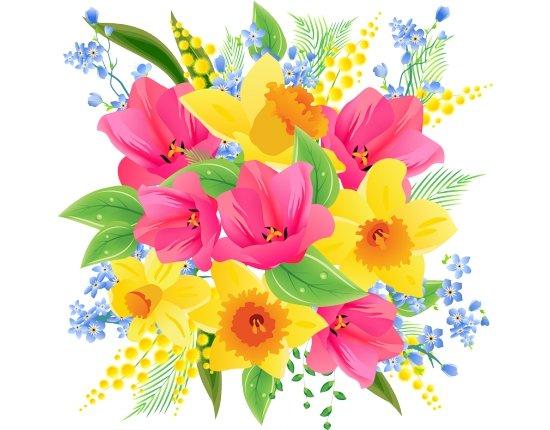 Скачать Красивые картинки цветов нарисованные 800x788 px