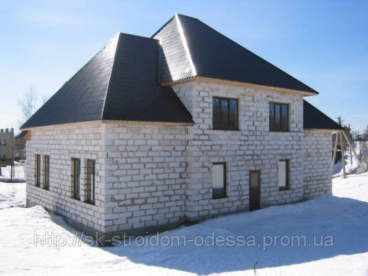 Как мы строили свой дом - стены с газоблока 1 часть. первые ряды строительства стен с. 10.11.2011