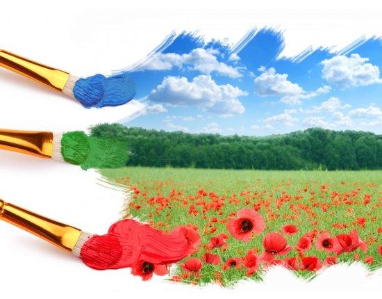 Скачать Красивые цветы рисунки красками 1024x768 px