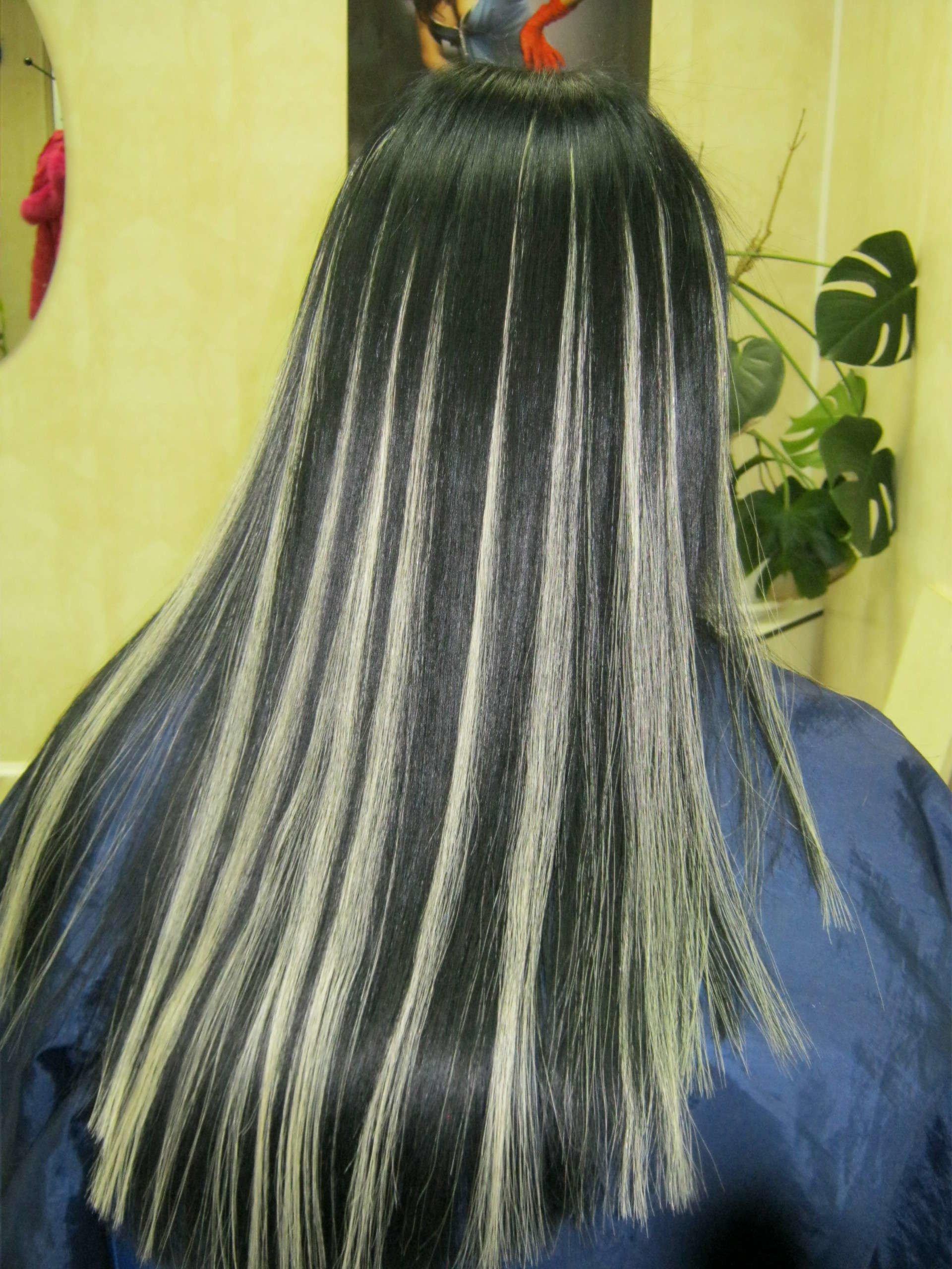 Наращивание волос мелирование фото до и после