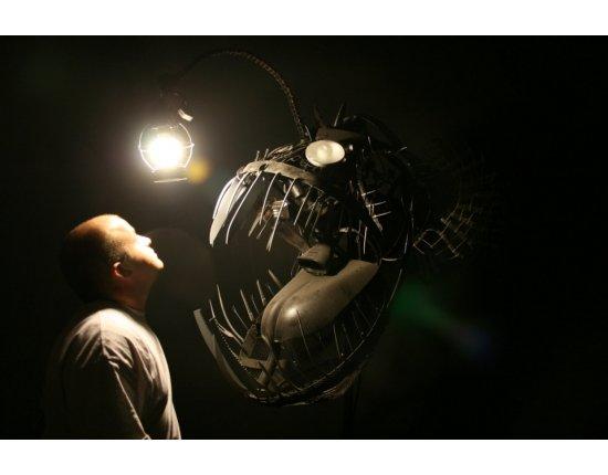 Скачать Рыба с фонариком фото 960x640 px