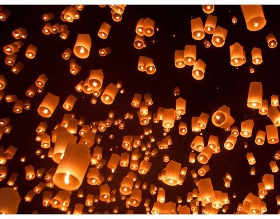 Скачать Воздушные фонарики фото 800x600 px