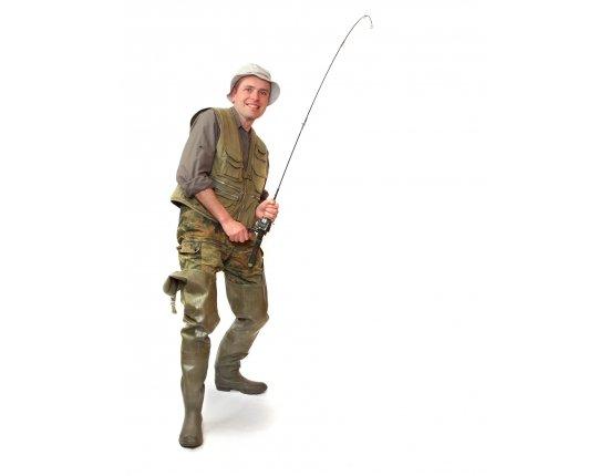 Скачать Картинка рыбака с удочкой 1915x2450 px