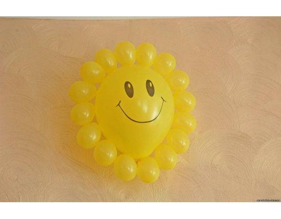Как сделать солнышко из воздушных шаров